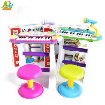 Playful Toys 頑玩具 電子琴附椅子BB335(兒童電子琴 兒童鋼琴 兒童樂器 音樂)