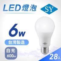 【SY 聲億】【28入】6W高效能廣角燈泡