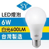 【SY 聲億】【6入】6W高效能廣角燈泡