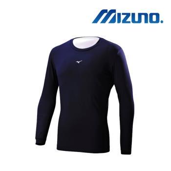 Mizuno 男長袖緊身衣 深丈青 12TA8C0214