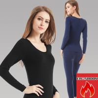 EROSBODY 女日本機能纖維平織保暖發熱衣褲