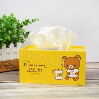 Rilakkuma 拉拉熊 懶懶熊超萌抽拉式 面紙盒 衛生紙盒-烘焙趣-黃