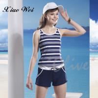 泳之美 時尚流行二件式連身褲泳裝 NO.28578