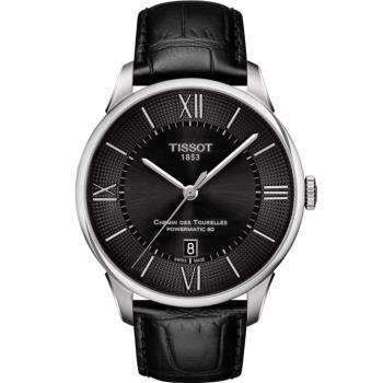 TISSOT天梭 杜魯爾系列動力80小時機械腕錶(黑/42mm) T0994071605800