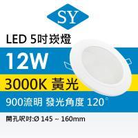 【SY 聲億】【單入】超薄型崁燈 12W -黃光