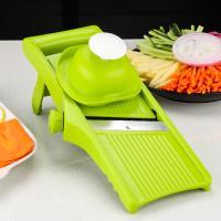 PUSH廚房用品新款無極旋鈕可調節厚度切絲切片刨絲器