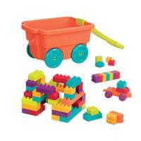 美國B.Toys-樂部落積木拖車(南瓜)