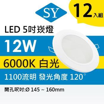 【SY 聲億】【四入】超薄型崁燈 12W 白光