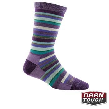 [ 美國DARN TOUGH ] 女羊毛襪SASSY STRIPE CREW LIGHT居家生活襪(2入顏色隨機)