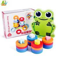 Playful Toys 頑玩具 木製青蛙四柱套圈8232