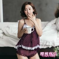 Cherry baby 愛戀滿點吊帶背心短褲套裝 (2色可選)