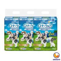 【Unicharm】日本消臭大師 禮貌帶男用-中小型犬M 42片 X 3包