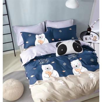 情定巴黎 文青風-100%40支精梳純棉單人全鋪棉兩用被床包組1+1超值組