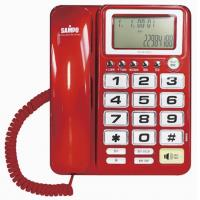 SAMPO聲寶來電顯示有線電話HT-W1007L紅色
