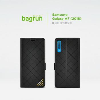 bagrun Samsung Galaxy A7 (2018)幾何系列手機皮套