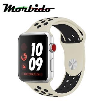 Morbido蒙彼多 Apple Watch 40mm運動型錶帶(白配黑)