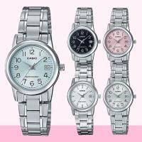 CASIO卡西歐 簡簡單單澄澈鋼帶女錶-黑/銀x31.5mm LTP-V002D-1B/2B/4B/7A/7B