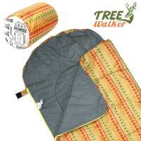 TreeWalker 露遊享夢兒童捲筒睡袋(圖騰橘)
