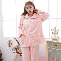 Pink Lady 彎彎新月保暖法蘭絨排扣成套睡衣 (9188-9)