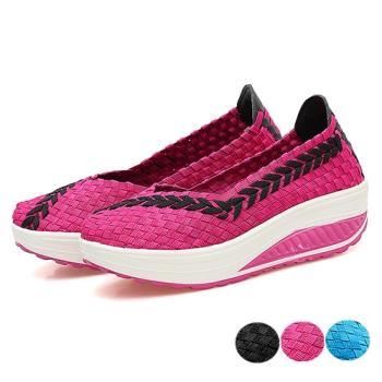 Alice 輕量減壓花邊款超細手工編織健走鞋