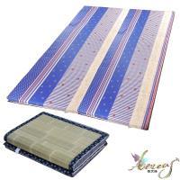 日式刮青蓆-藍海繁星純棉床墊-雙人6x6尺2