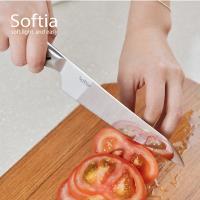 日本Softia設計廚具 一體成形蔬果刀-140mm