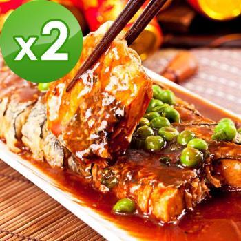預購-三低素食年菜 樂活e棧 年年有餘-珍饌糖醋魚-素食可食(400g/盒,共2盒)(01/25~01/31到貨)