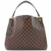 Louis Vuitton LV N44045 Graceful MM 棋盤格紋皮飾邊磁釦單肩背包 現貨