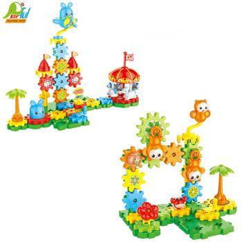 Playful Toys 頑玩具 齒輪積木組TS5102A(益智積木 創意積木 建構積木 教具積木 趣味積木)