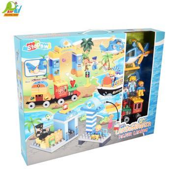 Playful Toys 頑玩具 海陸空積木3710(交通工具積木 直升機積木 火車積木 輪船積木)