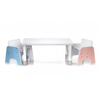 超值套組 台灣 愛兒館 ilovekids-離乳成長桌椅組(含一桌1椅+抽屜及塗鴉紙卷架組)