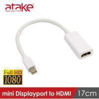 【ataKe】威立達 MiniDisplayport轉HDMI轉接線