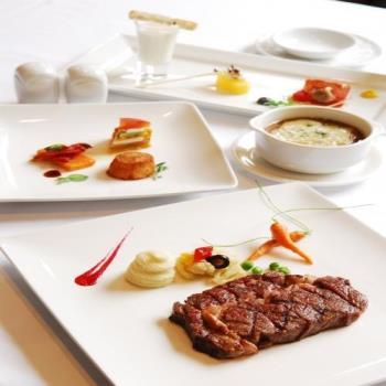 永豐棧酒店 風尚西餐廳7oz碳烤美國肋眼牛排prime+樂活沙拉吧吃到飽+法國紅酒一杯
