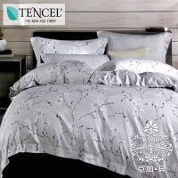 AGAPE亞加•貝 -夢之歌 吸濕排汗法式天絲標準雙人5尺四件式兩用被套床包組/床包加高35cm