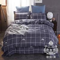 AGAPE亞加‧貝 MIT台灣製-從簡生活 舒柔棉雙人加大6尺三件式薄床包組(百貨專櫃精品)