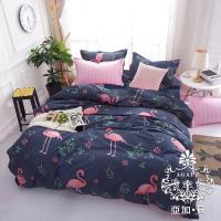 AGAPE亞加‧貝 -MIT台灣製-赤鳥之心 舒柔棉雙人5尺三件式薄床包組(百貨專櫃精品)