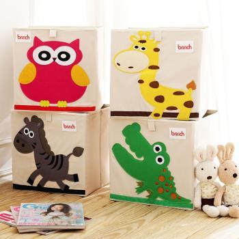 [木暉] 有機棉大容量玩具/雜物萬用收納箱(超值2入)