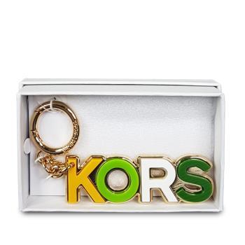 MICHAEL KORS 經典KORS金屬鑰匙圈禮盒-金色