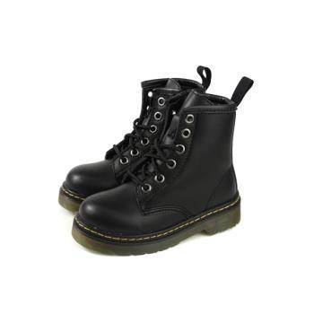 HABU 馬丁鞋 皮質 綁帶 黑色 童鞋 ZF01B-BK no011