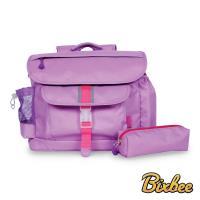 美國Bixbee - 經典系列薰衣草紫中童輕量舒壓背書包筆袋超值組