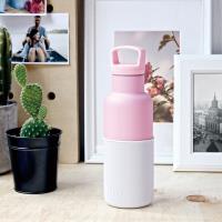 美國HYDY時尚保溫瓶_CinCin Déco雪白-玫瑰粉瓶 小容量 480ml