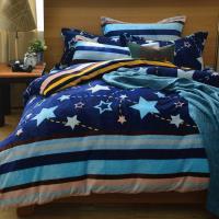 Yummyti  單人法蘭絨被套床包三件組-流星