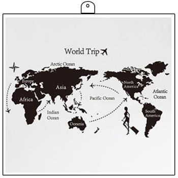時尚壁貼 -世界地圖