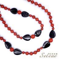 【Selene  珠寶】復古經典紅磚石毛衣鍊(特價 數量有限)
