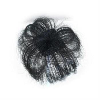 【米蘭精品】假髮真髮絲-髮頂補髮迷你自然女假髮2色73uh12