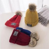 【米蘭精品】毛帽針織帽-可拆卸仿貉子毛毛球保暖男女帽子10色73ug6