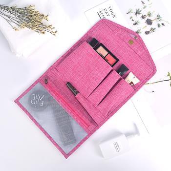 E.City_皮夾式帶勾多功能化妝收納包包中包