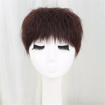 【米蘭精品】假髮真髮絲-玉米鬚自然髮頂補髮女假髮3色73uh41