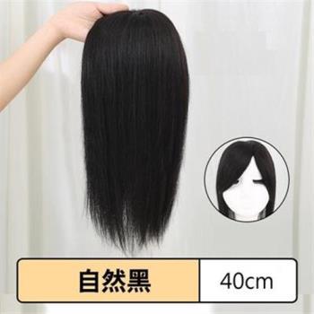 【米蘭精品】假髮真髮絲-仿真自然短直髮40cm女假髮2色73uh47