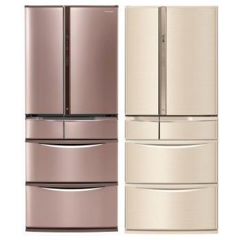 Panasonic國際牌 一級能效 601L 變頻6門電冰箱-香檳金/玫瑰金 NR-F604VT-N1/NR-F604VT-R1